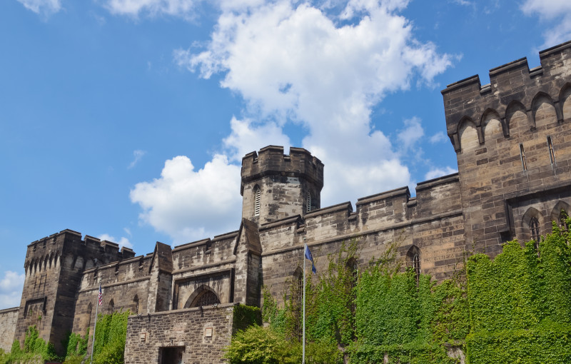 The Eastern State Penitentiary is a former American prison in Philadelphia, Pennsylvania, and was operational from 1829 until 1971. The penitentiary refined the revolutionary system of separate incarceration first pioneered at the Walnut Street Jail which emphasized principles of reform rather than punishment.