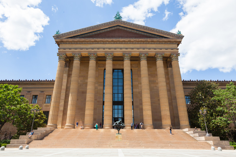 Philadelphia art museum entrance - Pennsylvania - USA