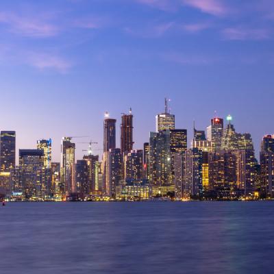 Downtown Toronto at Dusk