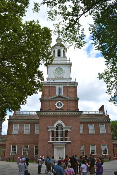 In this building in 1776, the Founding Fathers came together to sign the Declaration of Independence. Eleven years later, representatives from a dozen states met here to lay the framework for the U.S. Constitution
