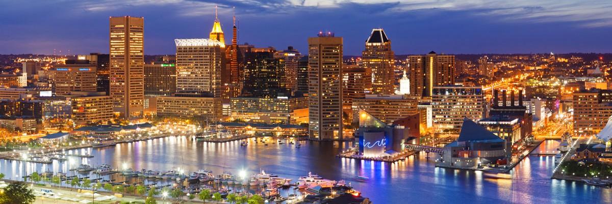 Baltimore Skyline Night Jpg