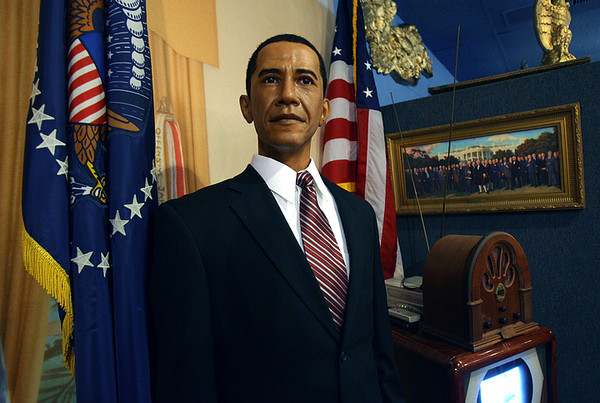 Barack Obama wax figure at the President's Hall of Fame, Clermont