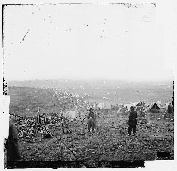Union outer line at the Battle of Nashville - 1864