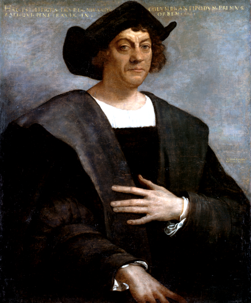 Christopher Columbus lands on San Martin in 1493