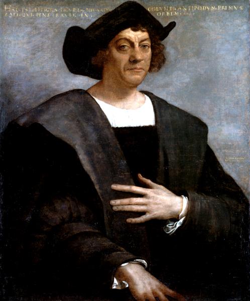 Christopher Columbus lands on San Martin in 1493