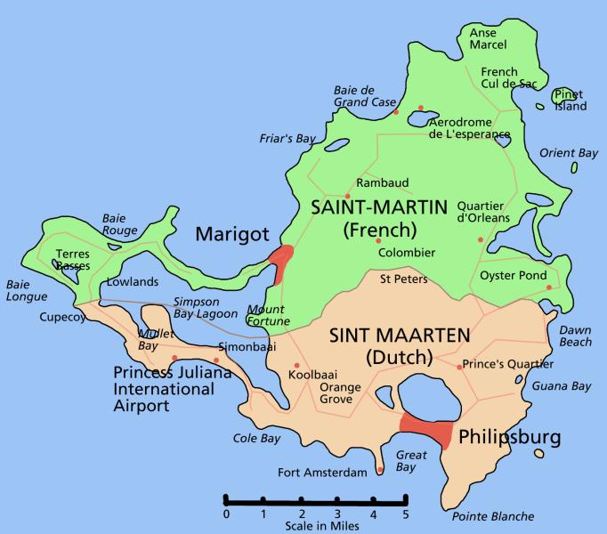 Saint Martin Map