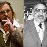 Christian Bale as Irving Rosenfeld, a representation of con artist turned informant, Melvin Weinberg