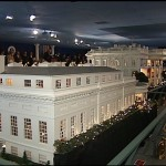 Angle view of the White House Replica