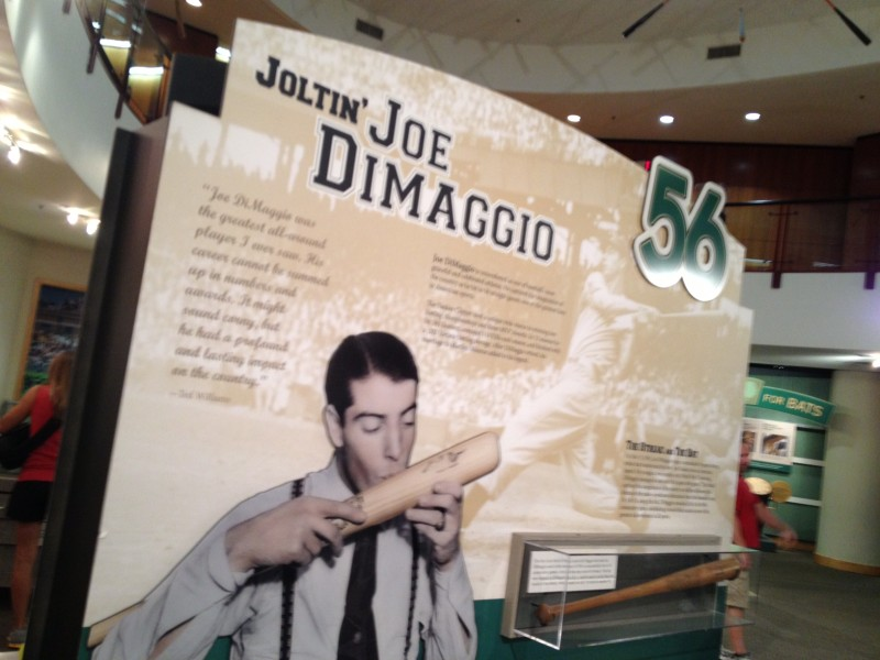 Joe DiMaggio at the Louisville Slugger Museum. I took this pic for my Dad but it didn't make it into the show. Here you go Dad!