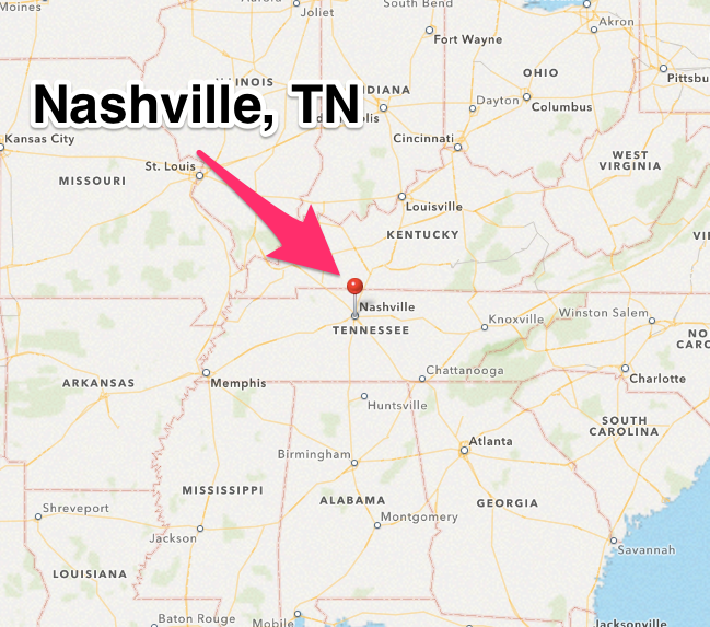 Nashville Tennessee Map