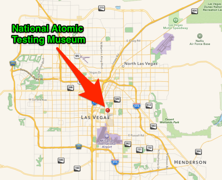 National Atomic Testing Center Map