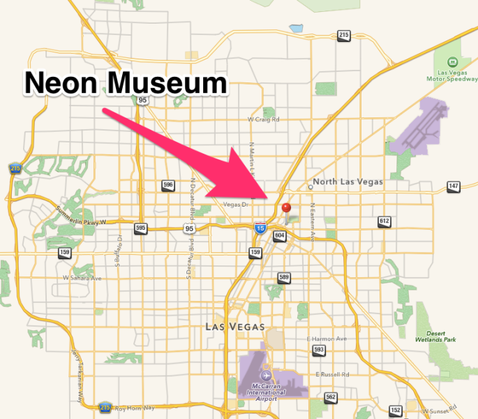 The Neon Museum Map