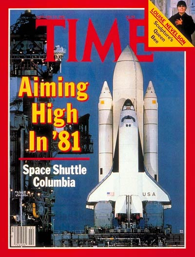 Time Magazine's cover for the inaugural launch of Columbia 1981