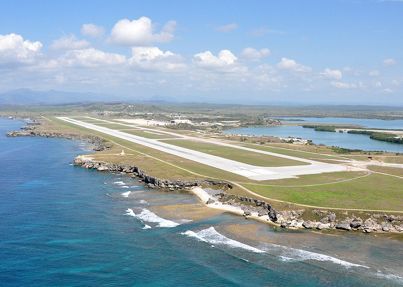 Modern day Leeward Airfield, Guantanamo Bay Cuba