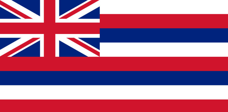 The State Flag of Hawaii reflects Captain Cooks British heritage.