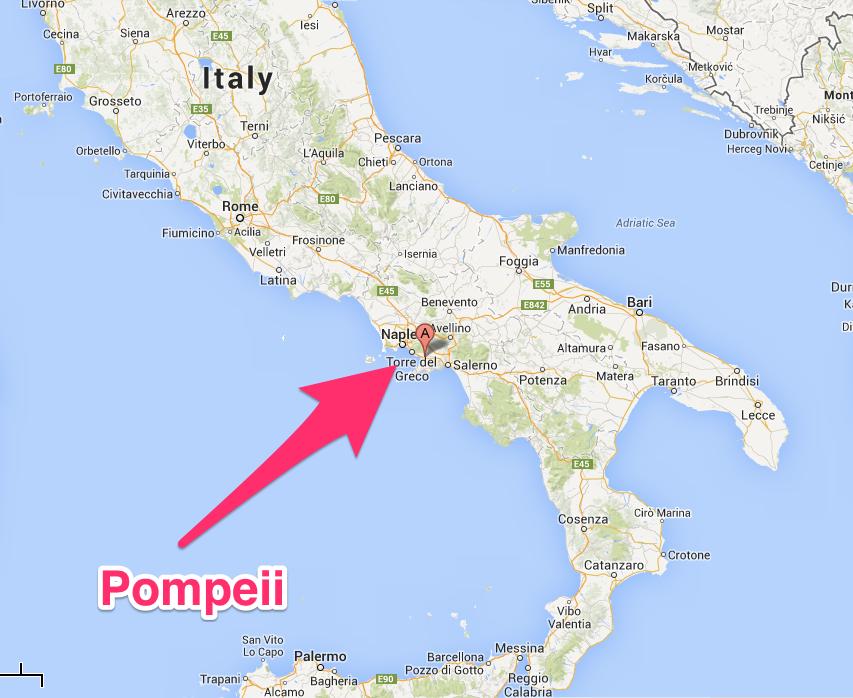 Pompei Italy Map ~ EXODOINVEST
