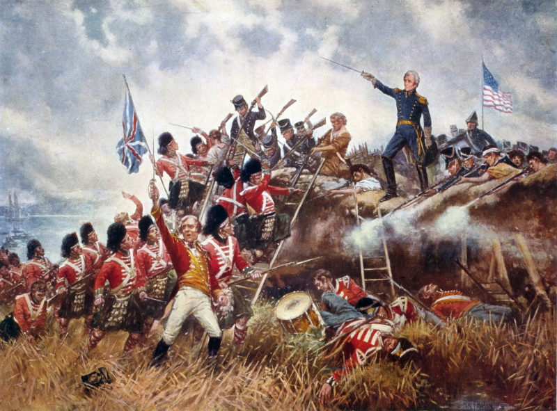 Andrew Jackson at the Battle of New Orleans