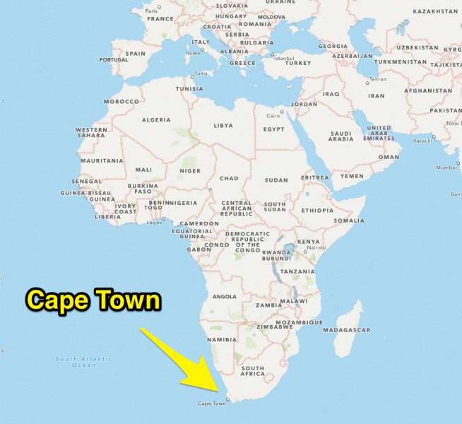 Cape Town South Africa Map