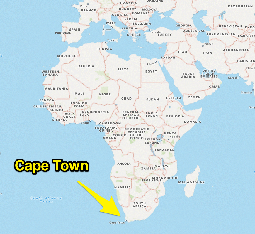 Cape Africa Map Cape Town On World Map   DANIELELINA