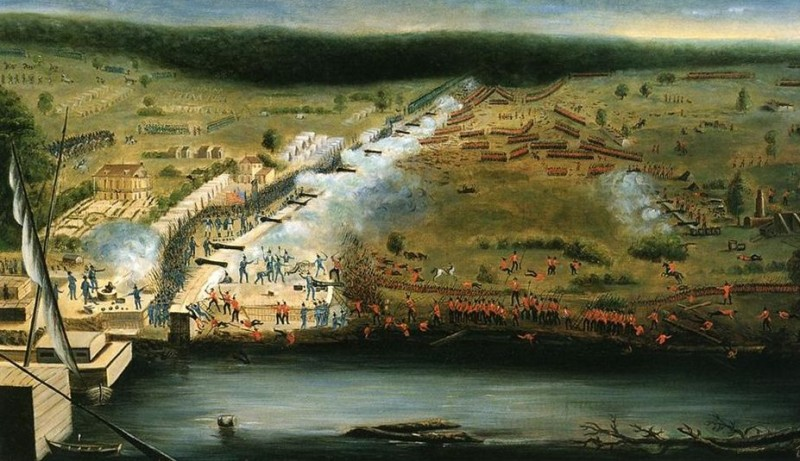 Map of Chalmette Battlefield at the Battle of New Orleans