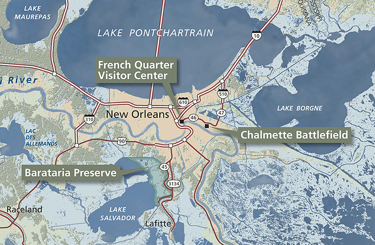 Chalmette Battlefield Map New Orleans