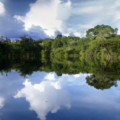 Amazon river reflections, Brazil