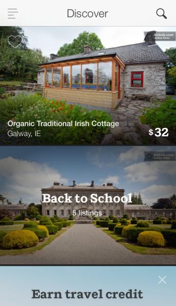 Airbnb iPhone app