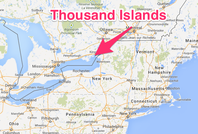 Thousand Islands Kingston Map