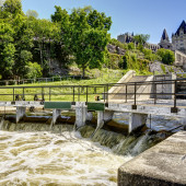 The rideau canal in Ottawa
