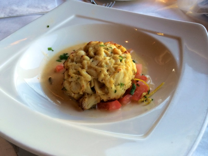 A Rusty Scupper Crab Cake
