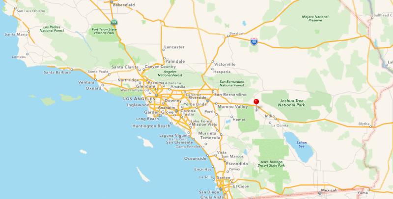Palm Springs, CA Map