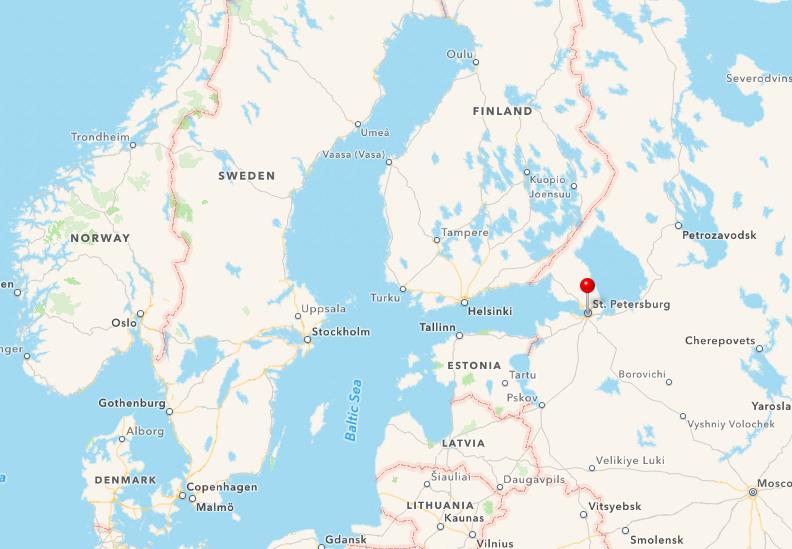 sankt petersborg map