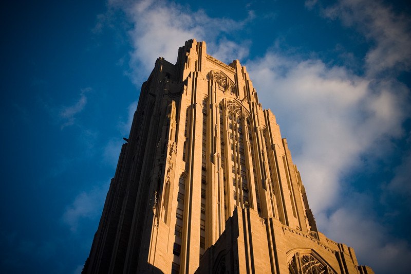 Cathedral of Learning. Photo courtesy Joey Gannons, wikicommons