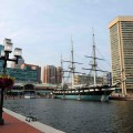 Baltimore Harbor with the USS Constellation. Photo via dollarstockphoto.com