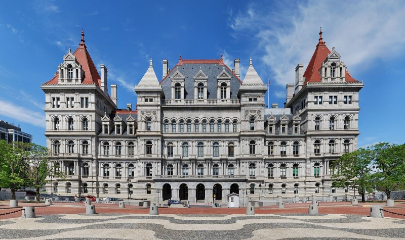 The New York State Capitol building in Albany today.