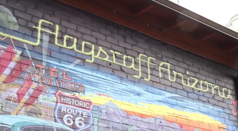 Flagstaff, AZ Route 66 Painted Mural