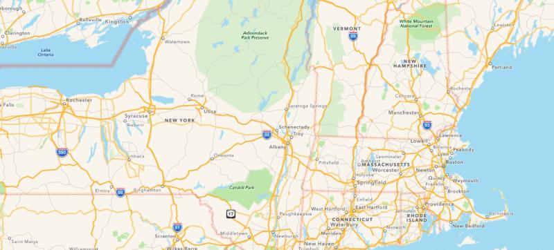 Albany Saratoga NY Map