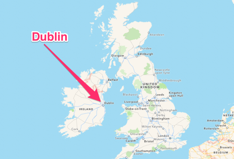 Dublin, Ireland Map