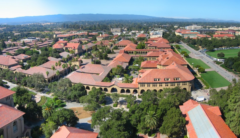 Stanford University Aerial. Photo via wikipedia.