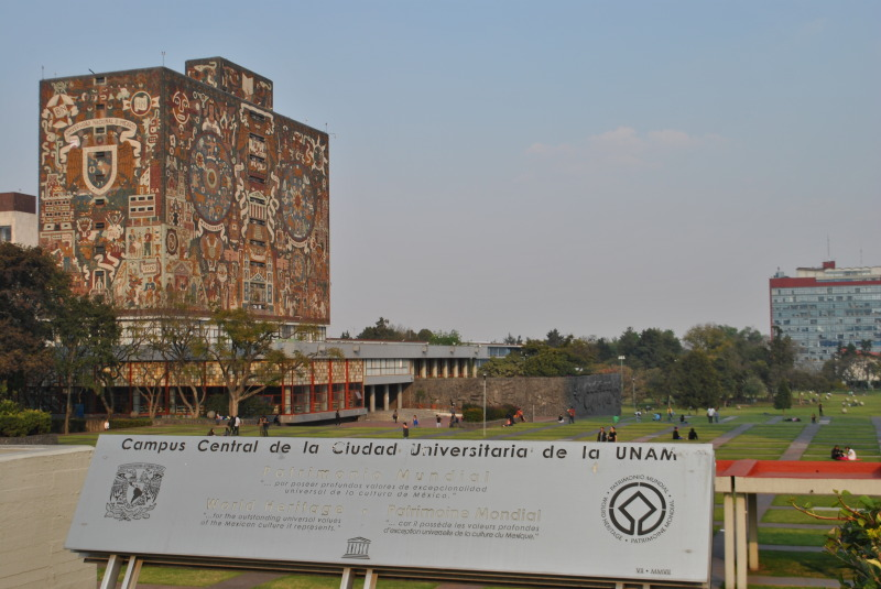 UNAM's main campus is one of the largest university campuses in the world.