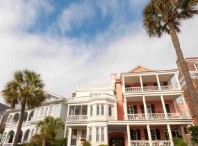 Historic houses on Battery St., Charleston, South Carolina.