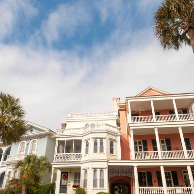 Historic houses on Battery St., Charleston, South Carolina.