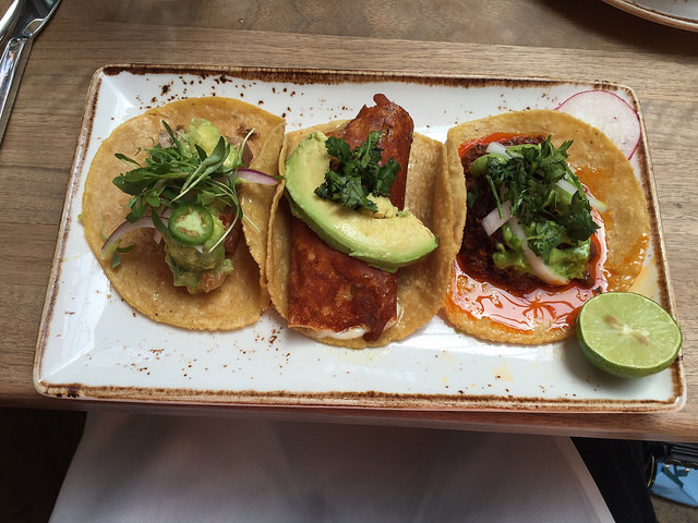 San Diego may not have invented the fish taco, but they perfected it. Here are the tacos from Puente.