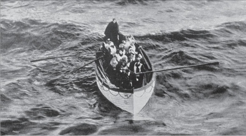 Taken by an unknown photographer, this photo shows the Titanic's lifeboat number 6.