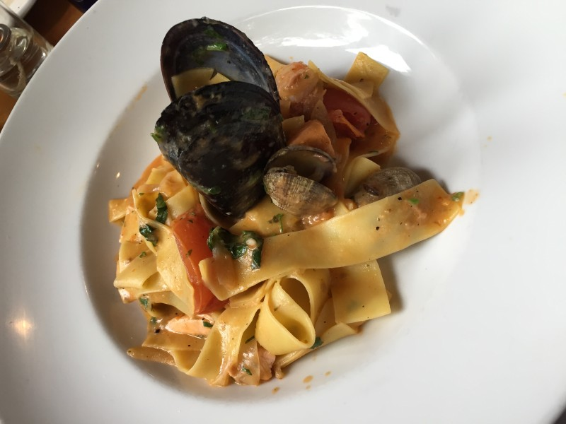 Pappardelle and mussels at Flying Pig. Photo via Joe Dorsey.