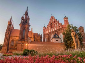 St Anne's and Bernadine's Churches in Vilnius, Lithuania