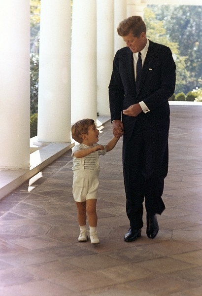 John F. Kennedy and JFK, Jr. share a moment that Pavlick almost prevented.