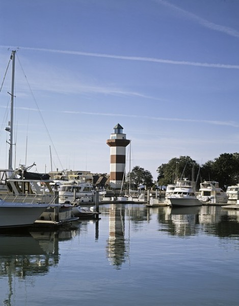 Hilton Head Island's lighthouse is a famous landmark on the island.