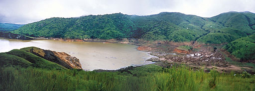 A view of Lake Nyos, responsible for the limnic eruption.