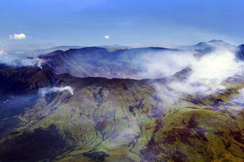 The 1815 eruption of Mt. Tambora created this massive caldera.